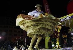 "A ""chola"" dancer unfurls her skirt during a festive dance in La Paz, Bolivia."