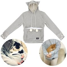 There's nothing like a comfortable sweatshirt, especially when it's also comfy for your cat.