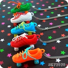 Vintage Roller Skate Necklace  RED by HeyYoYo on Etsy, $6.00