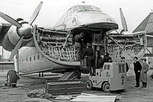 Bristol Freighter with clamshell nose open