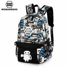 Famous Brand Vintage Printing Backpack For Teenage Girls Boy Canvas Fashion School Bag Laptop Backpack For Women Male Travel Bag