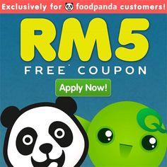 20-21 Apr 2015: FoodPanda Free RM5 Coupon
