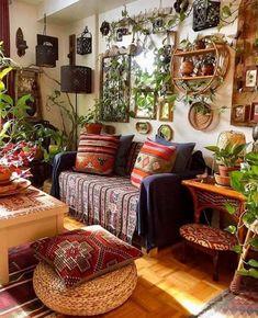 Bohemian House, Bohemian Living, Bohemian Decor, Boho Chic, Bohemian Style, Next Living Room, Junk Gypsies Decor, Guest Room Office, Sofa Colors