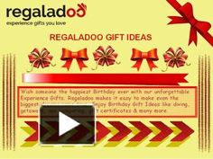 Wondering what to get for her? Treat her to a special Experience she will never forget! Find amazing and awesome Experiences right here. Ranging from Skydiving, Paddle Boarding, Spa Packages, Romantic Getaways and many much more.   Visit Us: http://www.regaladoo.com