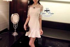 Elegant sweet dress ♡Odee&Cutie Daily Fashion 2014♡  เดรสลุคเรียบหรู โทนสีขาวล้วน เนื้อผ้า polyester มี texture ในตัว ช่วงบนและช่วงแขนตัดต่อลูกไม้  ชายกระโปรงทำระบาย บานออก  ซิปซ่อนด้านหลัง  เสื้อผ้าแฟชั่นผู้หญิง พร้อมส่ง Lady Ribbon, Odee, Cliona, IceVanilla, Seoul Secret by ChalidaliShop.com รับสมัครตัวแทนจำหน่ายเสื้อผ้าแฟชั่น