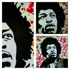 Jimmy Hendrix- stencil