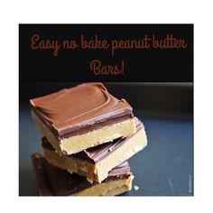 Easy No Bake Peanut Butter Bars!