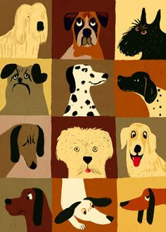 best ideas for dogs funny art faces Art Picasso, Arte Dachshund, Retro Poster, Dog Crafts, Dog Illustration, Wow Art, Face Art, Art Faces, Dog Paintings