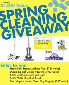 Amazing Spring Cleaning Giveaway YOU could win! -- Tatertots and Jello
