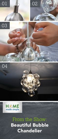 @kennethwingard's beautiful bubble chandelier would look great in any dining room, bedroom or entryway. Add your own unique touch to your lighting fixtures with this DIY weekend project.