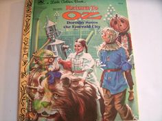 Return to Oz Dorothy Saves the Emerald City Vintage 1980s Book