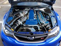 Tight fit, twin turbo 2jz in a subie