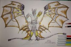 Pokemon, Godzilla Vs King Ghidorah, All Godzilla Monsters, Monster Art, King Kong, Art Sketches, Cyber, Character Art, Book Art