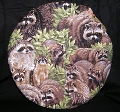 Microwave potato baker bag Round Racoons Coons Hunting by Inthecc, $9.00