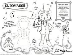 """Nuevo mantel kids para colorear. Ya en nuestros restaurantes:""""El domador"""" del Circus másquepintxos"""