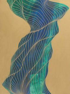 """Saatchi Art Artist Tracie Cheng's geometric painting, """"Life Stalks"""" #art 