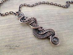 Wire wrapped pendant Copper necklace Wire Wrapped jewelry