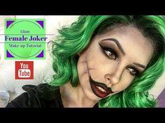 Glam Female Joker Make-Up Tutorial - YouTube