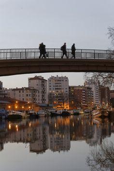 Le port Saint Sauveur, port de plaisance sur le Canal du Midi à Toulouse © P. Nin - Ville de Toulouse #visiteztoulouse