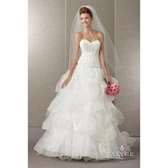 The Hottest Dress Designer hands down! Alyce Paris.  Check out their dresses at alyceparis.com Wedding Dress Style 7855 #http://pinterest.com/alyceparis