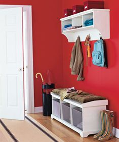 Don't be afraid to go for red walls, it's a stimulating, statement-making color.