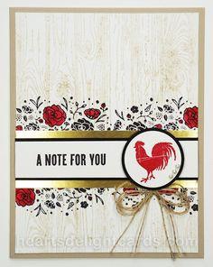 Heart's Delight Cards: Wood Words (Sneak Peek!)