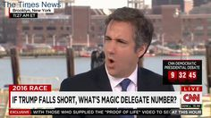 Trump surrogate Michael Cohen cant vote for Trump in NY primary because hes a registered Democrat