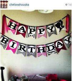 Chelsea Houska's diy birthday banner