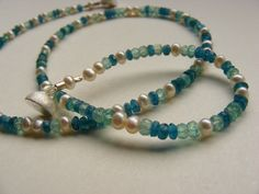Choker, Himmelblau, Bead Jewelry, Beaded Bracelets, Beads, Etsy, Pearl Jewelry, Rhinestones, Neck Choker