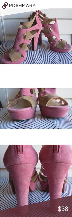 Enzo Angiolini Montie 9 M Heel Sandal Pink In great condition with minor signs if wear Enzo Angiolini Shoes Heels