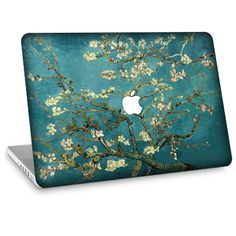 "Apple Macbook Air 11"" 13""  Decal Skin w/  Apple Cutout - Van Gogh Blossoming Almond Tree. $24.95, via Etsy.  I LOVE this painting--have it above my sofa."