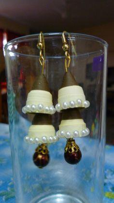 """Double decker"" Quilled Jhumka Earrings"
