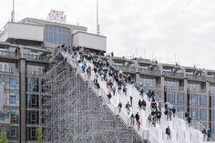 An installation designed by Dutch architect MVRDV