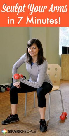 Bootcamp: 7-Minute Arm Shaper with Dumbbells Video via @SparkPeople