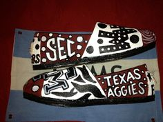Texas Aggie Toms by Karen Laughlin Please check out my other designs on Facebook under Karen's Kollectables