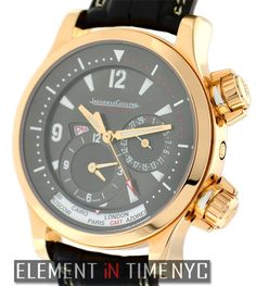 Jaeger-LeCoultre Master Compressor Geographic 42mm iN 18k Rose Gold With A Charcoal Grey Arabic Dial (171.24.40)