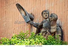 Sculpture Of Basque Pelota, Gernika-Lumo, Basque Country, Spain - Stock Image