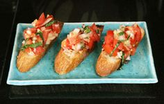 Bruschetta is a fresh, simple and delicious Italian appetizer that can be prepared in minutes and enjoyed any time of the year.
