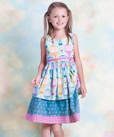1158881ee02 Jelly the Pug Aqua Hot Air Balloon Tenley Dress - Infant
