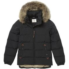 Women's Aigle Oldhaveny Down Quilted Jacket ($329) ❤ liked on Polyvore featuring outerwear, jackets, fur trimmed jacket, aigle, short jacket, aigle jackets и quilted jacket