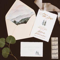 Colorado Mountain Wedding Invitation Suite
