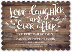 Love And Laughter Forever Wedding Card | Wedding Invitations | Shutterfly || $1.49 each for 20 families = $29.80