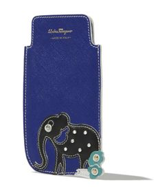 The elephant, star of a famous Ferragamo foulard designed in the 70s, inspired this colourful cell phone case: it's Salvatore Ferragamo's special Holiday Gift collection for: find out more and shop online at www.ferragamo.com