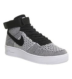 new product 2bea3 934e5 NIKE Air Force 1 flyknit mid-top trainers