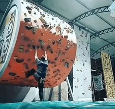 """Funny, animated GIFs: Your favorite computer file type! Officially pronounced with a hard """"J"""". Boulder Climbing, Rock Climbing Gym, Sport Climbing, Dojo, Rock Climbing Techniques, Home Climbing Wall, Ninja Warrior Course, Bouldering Wall, They See Me Rollin"""