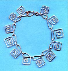 How to make Greek Key wire jewelry links (Another tutorial)