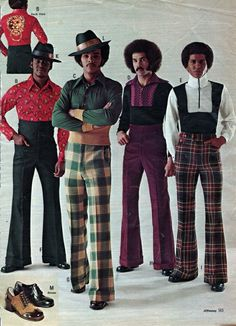 Super Fly by J.C. Penney | I Love The 70s  —- Mens Fashion, J.C. Penney Catalog..all that Melanin 70s Outfits, Vintage Outfits, 70s Fashion, Seventies Fashion, Fashion Trends, Vintage Fashion, High Fashion, Vintage Clothing For Sale, Studio 54