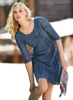 crochet beauty lace dress for summer - crafts ideas - crafts for kids