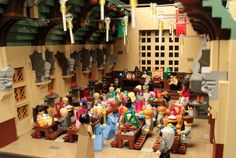 Lego model of Hogwarts, via modern met.