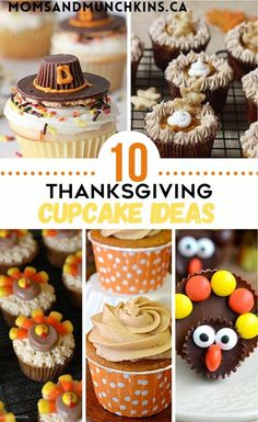 Thanksgiving is almost upon us! Celebrate this wonderful holiday with these 10 Thanksgiving Cupcake Ideas! These super cute desserts are sure to leave your guests happy they left room for dessert. I love cupcakes, and these recipes do not disappoint. Thanksgiving food. Recipes. 10 Thanksgiving Cupcake Recipes Thanksgiving Cupcakes, Thanksgiving Recipes, Fall Recipes, Holiday Recipes, Cupcake Recipes, Quick Dessert Recipes, Easy No Bake Desserts, Cupcake Ideas, Baking Recipes